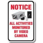 Notice All Activities Monitored Signs